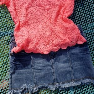 Hot Kiss denim skirt